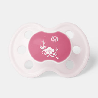 Ume branch & shadowed butterfly-shaped ume blossom pacifier