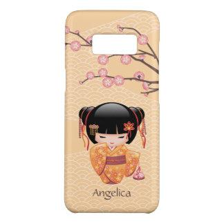 Ume Kokeshi Doll - Japanese Peach Geisha Girl Case-Mate Samsung Galaxy S8 Case