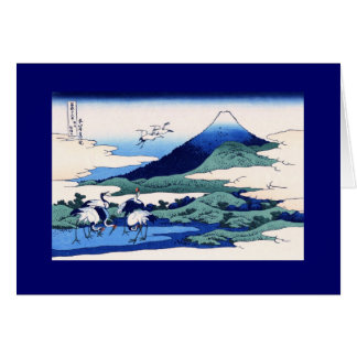 Umegawa Hokusai Japanese Fine Art Card