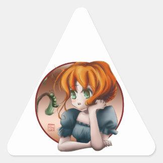 Umi Chan Triangle Sticker