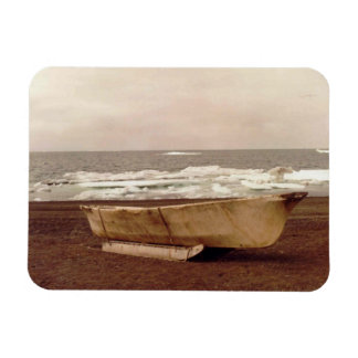 Umiak Walrus Skin Whalers Boat Photo Printed Flex Magnet