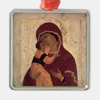 Umilenie Virgin of Wladimir, Moscow School Metal Ornament