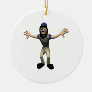 Umpire Ceramic Ornament