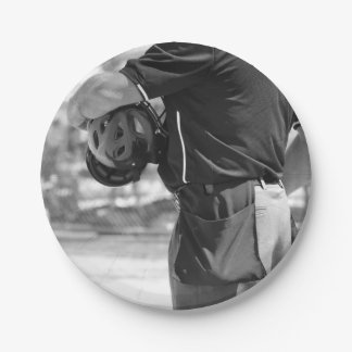 Umpire in Black and White 7 Inch Paper Plate
