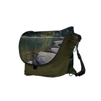 Umpqua River & Rocks Messenger Bag