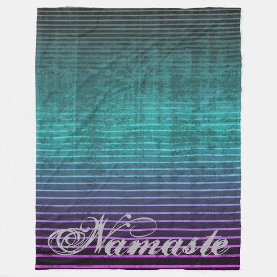 Umsted Design Distressed Striped Namaste Fleece Blanket