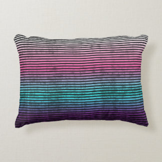 Umsted Design Grungy Stripes Decorative Pillow