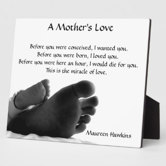 Un amour de mère plaque d'affichage