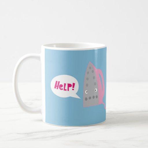 Un appel à l'aide tasses à café