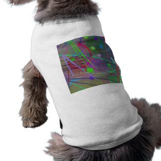 Un autre amusement occupé de couleur de ricochet d tee-shirt pour toutou
