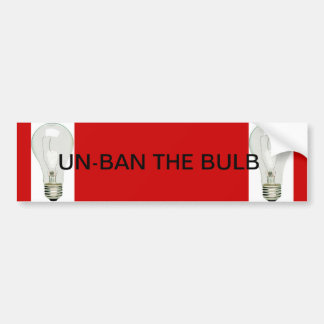 UN-BAN THE BULB BUMPER STICKER