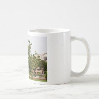 Un beau tournesol se levant haut tasse