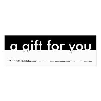 un cadeau pour vous (quantité vide) cartes de visite personnelles