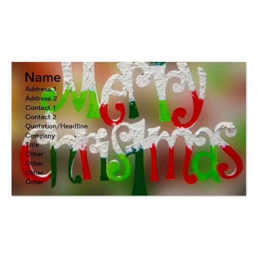 Un carte de visite de Noël très Joyeux
