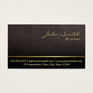 Un carte de visite en cuir plus foncé d'agent