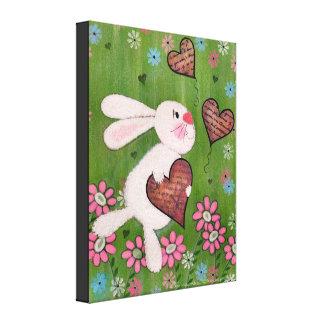 Un certain lapin vous aime - art de mur d'enfants toiles