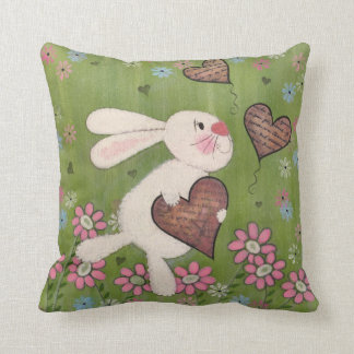 Un certain lapin vous aime - art d'enfants de oreillers