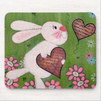 Un certain lapin vous aime - lapin Mousepad de la Tapis De Souris