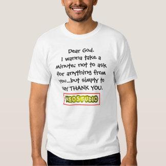 un cher dieu remercient u tee-shirts