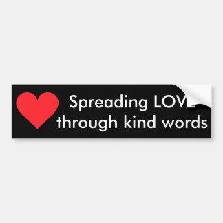 Un coeur de l amour et de l affection adhésif pour voiture