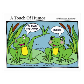"""Un contact massage de grenouilles d'humour"" Cartes Postales"