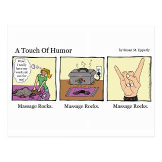 """""""Un contact massage d'humour"""" bascule comique Carte Postale"""