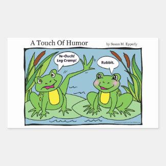 """""""Un contact thérapie de massage de grenouilles Sticker Rectangulaire"""