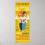 Un conte de 2 repas Infographic Posters