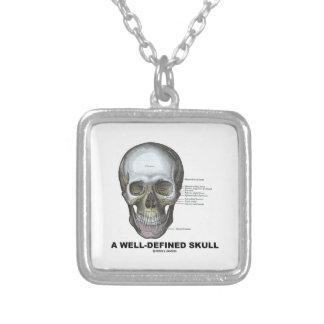 Un crâne bien défini (anatomie médicale) pendentif carré