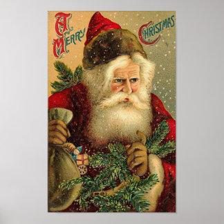 Un cru Père Noël de Joyeux Noël Posters