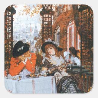Un déjeuner Romance Autocollants