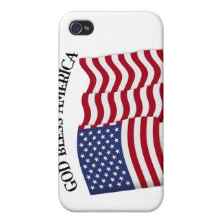 Un DIEU BÉNISSENT L'AMÉRIQUE avec le drapeau des U Coque iPhone 4/4S