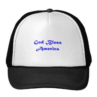 un dieu bénissent l'Amérique Casquettes De Camionneur