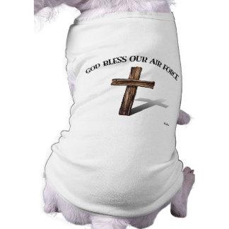 Un DIEU BÉNISSENT NOTRE ARMÉE DE L'AIR avec la cro Tee-shirts Pour Animaux Domestiques