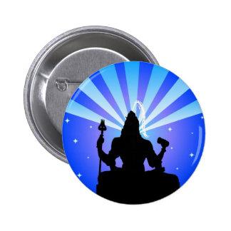 Un dieu indien Shiva - bouton Macaron Rond 5 Cm