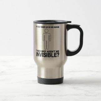 un dieu nous avons-nous faits dans son image, pour mug de voyage en acier inoxydable