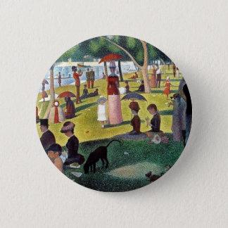 Un dimanche après-midi à l'Îl by Georges Seurat 2 Inch Round Button