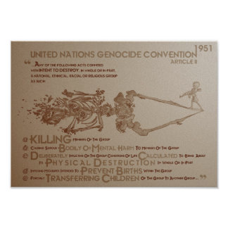 UN Genocide Convention: Article 2 (1951) Poster