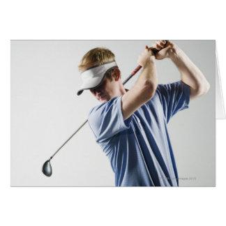 Un golfeur cartes de vœux