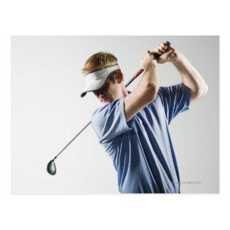 Un golfeur cartes postales