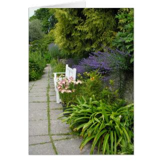 Un jardin anglais de pays dans Devonshire Carte De Vœux