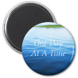 Un jour à la fois magnets pour réfrigérateur