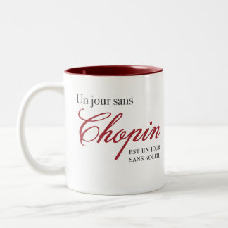 Un jour sans Chopin ... Two-Tone Coffee Mug