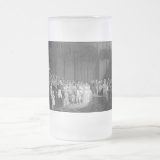 Un mariage très victorien frosted glass beer mug