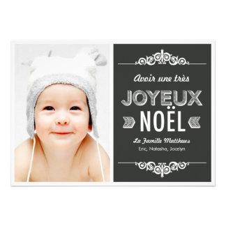 Un message de vacances cartes photos de Noël Personalized Invitations