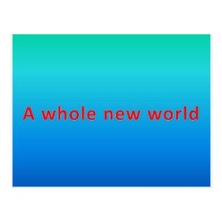 un nouveau monde entier cartes postales