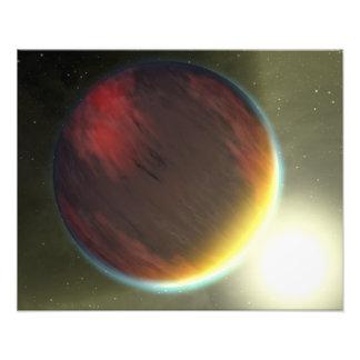 Un nuageux Jupiter-comme la planète qui orbite Photo D'art
