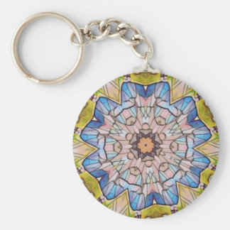 Un ommon Stained Glass Photomanipulation Keychain