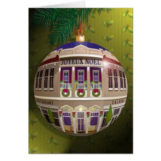 Un Ornement Joyeux Noël-Vert Greeting Card