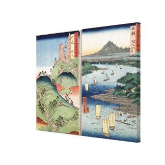 Un paysage et un paysage marin toiles tendues sur châssis